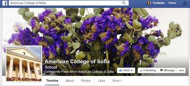 american college of sofia facebook