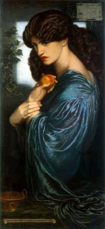 """Прозерпина"""" - Данте Габриел Росети (1874)"""