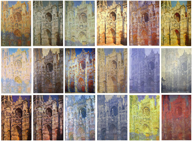 rouen catedrala monet mnogo