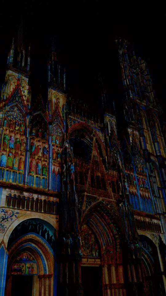 rouen catedrala svetlinno show