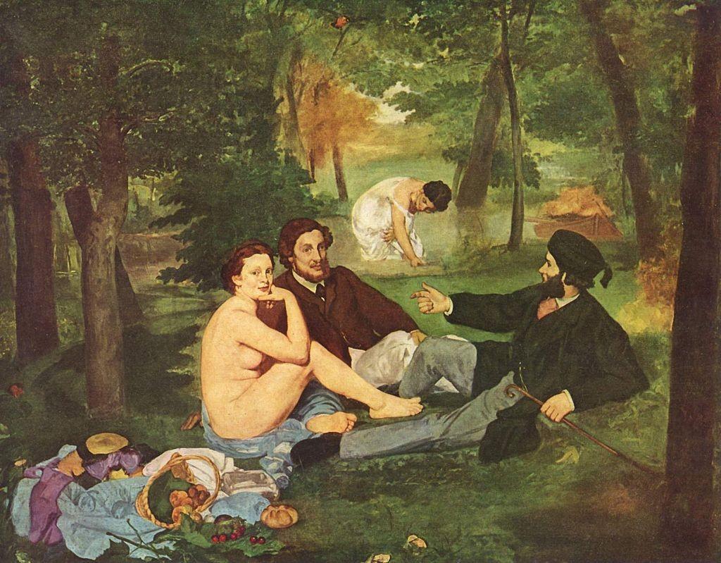 """Закуска на тревата"" (1863) - Едуар Мане"