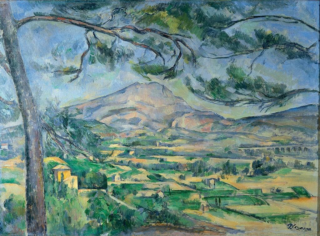 Mont Sainte-Victoire with Large Pine (c. 1887), Пол Сезан