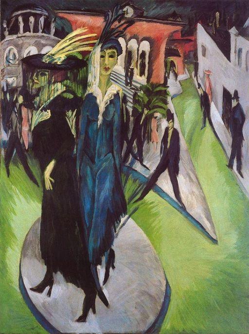 """""""Площад """"Потсдам"""" (1914) - Ернст Лудвиг Кирхнер"""