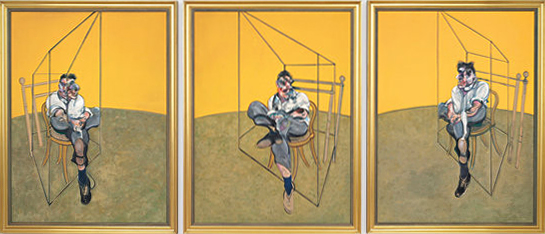 """Три студии на Лушън Фройд"",  Франсис Бейкън"