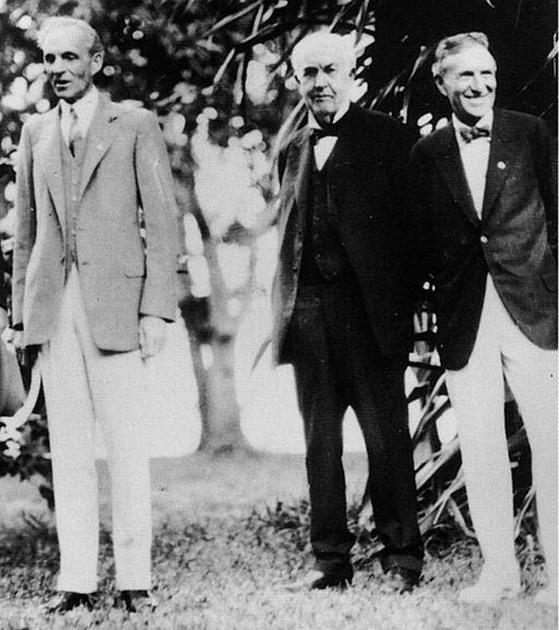 Henry Ford, Thomas Alva Edison, and Harvey Samuel Firestone