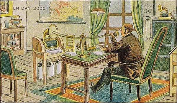 France_in_XXI_Century._Dictant_courrier