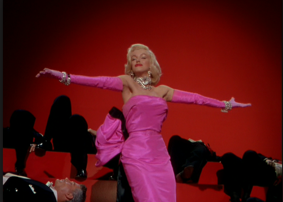 merilyn monro pink dress