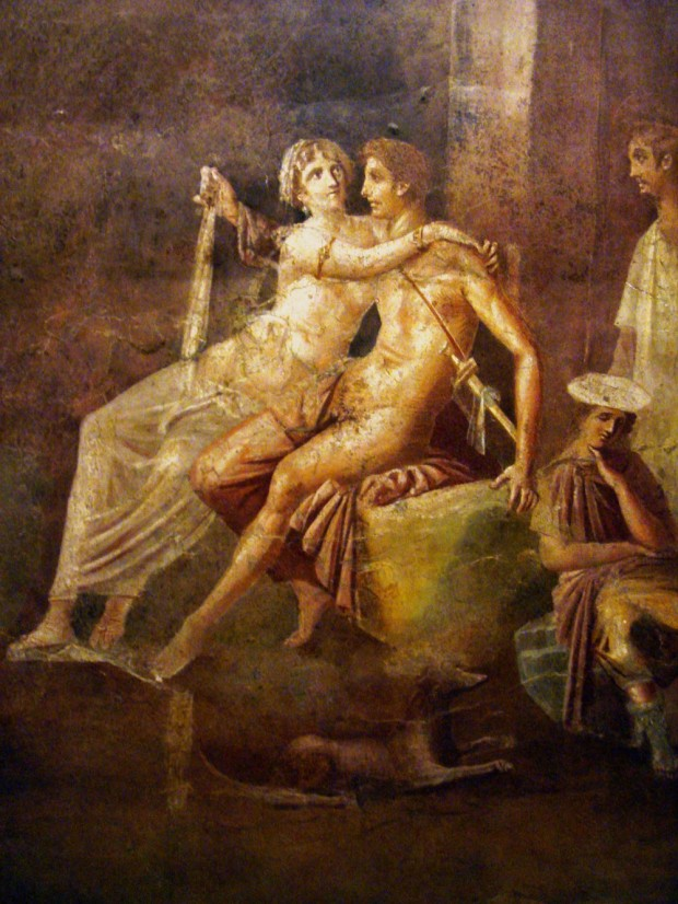 By Stefano Bolognini (File:Affreschi romani - Enea e didone - pompei.JPG) [Attribution], via Wikimedia Commons