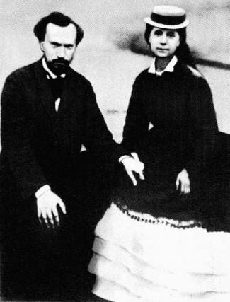 Жени Каролина и съпругът й източник: Уикипедия