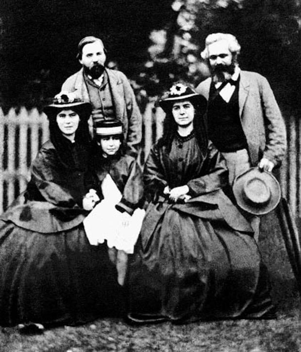 Фридрих Енгелс, Карл Маркс и дъщерите на Карл Маркс източник: Уикипедия